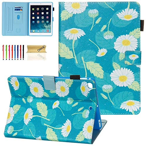 Dteck iPad 9.7 2018/2017 Case, iPad Air 2 Case, iPad Air Case, PU Leather Case Adjustable Stand Auto Wake/Sleep Smart Soft Rubber Back Cover for Apple ipad 6th 5th Gen, iPad Air 2 / Air, Daisy