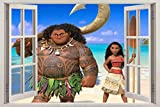 HQQPA 3D Wandaufkleber Poster Pocahontas Fenster Aufkleber