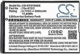 CS-HYD700BX Batería 3200mAh Compatible con [Dolphin] 60s, 70e, 75e, [Honeywell] Captuvo SL42 Sled, Dolphin 60s, Dolphin 70e, Dolphin 75e, Healthcare Sled sustituye 60S-Batt-1, 70e-BTEC, Bat-Extended-