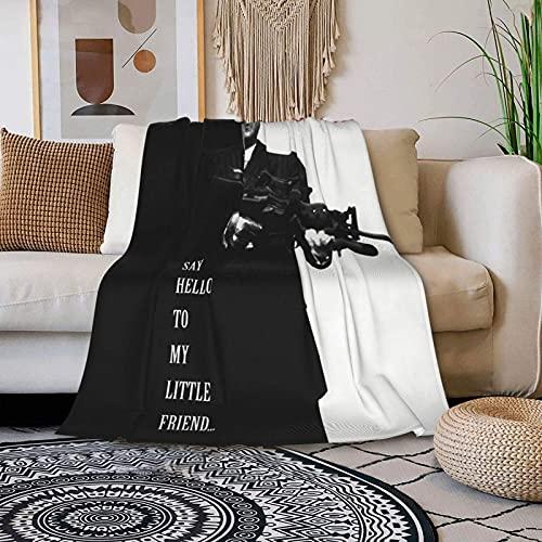 485 Scarface Manta para Cama Sofa Transpirable Mantas De Cama Extra Suave Manta Fina Microfibre Manta De Frio para Cama Sofá Dormitorio 125x100cm
