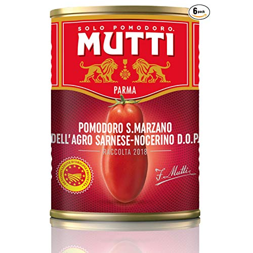 Mutti San Marzano PDO-Tomaten (Pelati San Marzano) aus Italien, 400 ml, 6 Stück