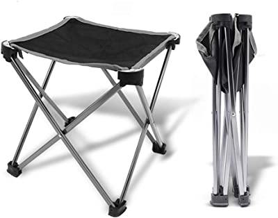 Sgabello seggiolino sedia pieghevole militare in metallo per