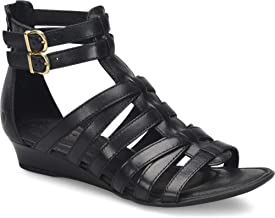 black gladiator wedges