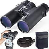 Gosky 10x 42 双眼鏡 大人用 コンパクトHD プロフェッショナルグレードの双眼鏡 バードウオッチング/旅行/天体観測/狩猟/コンサート/スポーツに BAK4 プリズム FMC レンズ 携帯電話マウント/ストラップ/携帯バッグ付き