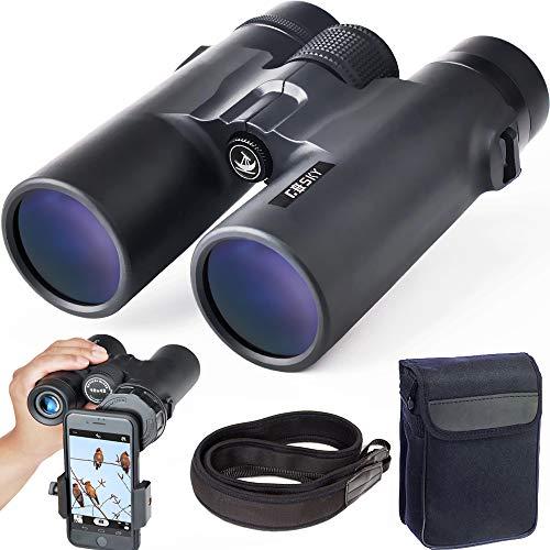 Gosky 1042 B - Prismáticos 10x42 para observación de Aves, Estrellas, paisajes, Viajes, Caza, conciertos, Deportes y Juegos al Aire Libre