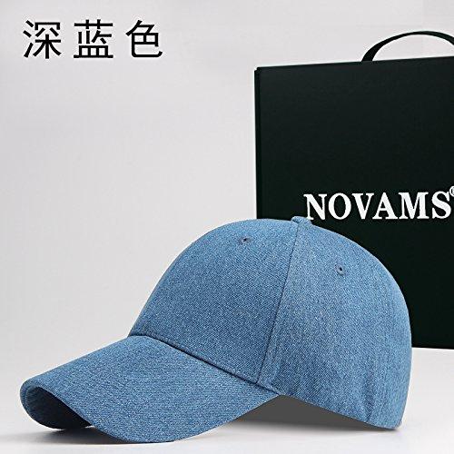 FQG * herfst jeans en baseball caps mannen katoen kleur vrouwelijke cap basic markiezen beweging cap, donkerblauw