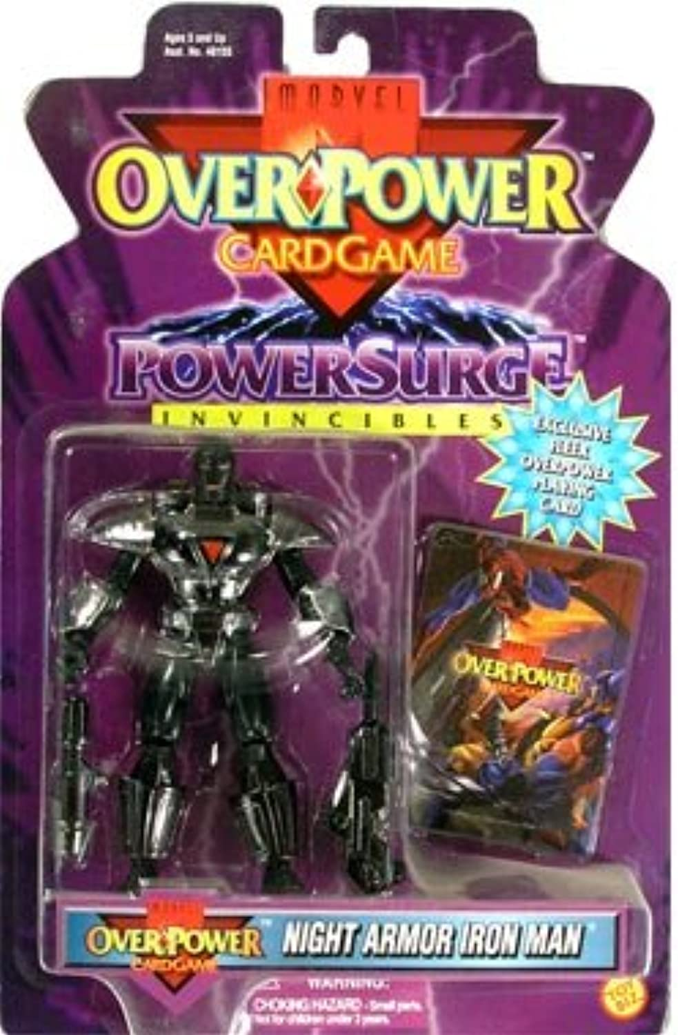 Night Armor Iron Man Marvel Overpower Power Surge Action Figure