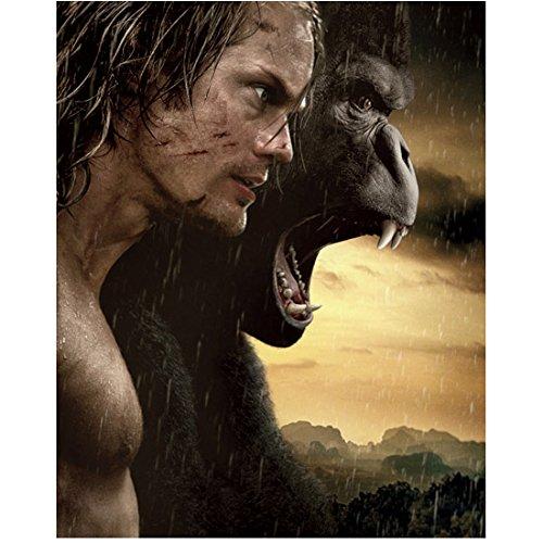 The Legend of Tarzan (2016) 8 inch by 10 inch PHOTOGRAPH Alexander Skarsgard & Gorilla Mouth Wide Open kn