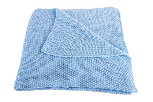 Love Cashmere Couverture pour Bébé Ultra Douce 100% Cachemire - Bébé Bleu - Fait main à Écosse