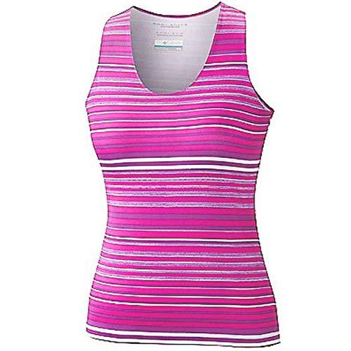 Columbia Sportswear Siren Splash Print - Camiseta sin mangas para mujer, diseño de rayas rosadas, talla...