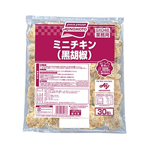 【冷凍】 味の素冷食 ミニチキン 黒胡椒 24g×30個 合計720g 業務用 鶏肉 おかず 洋食 惣菜