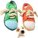 Yueser Giocattolo da Masticare Cigolio per Cani, 2Pcs Giocattolo per Animali Domestici a Forma di Pantofola con Effetto Sonoro Giocattolo da Masticare per Caniper Cani di Piccola e Media Taglia