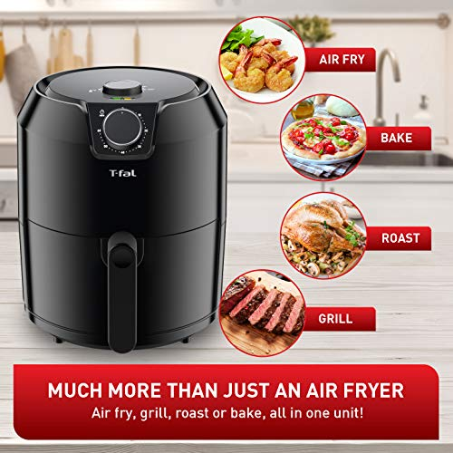 T-Fal EY201850 T-fal Easy Fry XL Air Fryer, Low Oil, Patented Basket System, 4.2L, Black