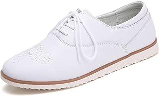 Gecatiso Women's Slip On Flats Loafer Leather Tassel Sneaker Shoes