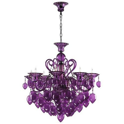 Cyan Design 02996 Bello Vetro Chandelier, Purple
