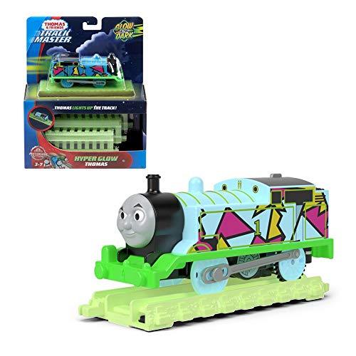 Thomas & Friends- Hyper Glow, Thomas Tanque y Sus Amigos Brillan en la Oscuridad del Motor Trackmaster, Multicolor, 0 (Mattel FVJ73) , color/modelo surtido