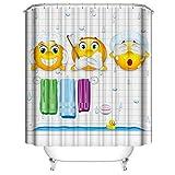 Dibujos animados divertido baño de ducha accesorios para cortinas cortina de ducha, Cat/Hippo mascotas cuarto de baño para bebé niños y los regalos de los niños ad E