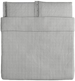 IKEA Nyponros Duvet Cover and Pillowcase, Gray, King