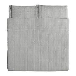 cheap Ikea Nyponros duvet cover and pillowcase, gray, king