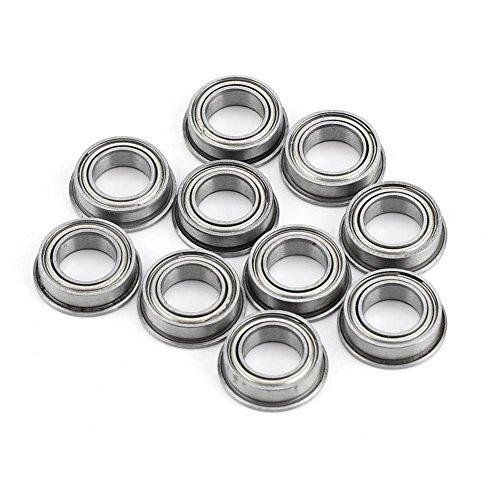 10pcs MF106ZZ Cuscinetti a sfere flangiati in acciaio inox con mini cuscinetti a sfera in metallo 6x10x3mm