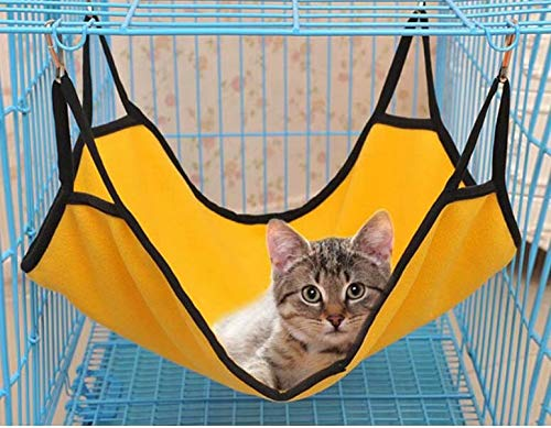 Yellow Pet Cat Cage Hammock, Also for Ferret,Rat,Rabbit,Small Dog or Other Pet