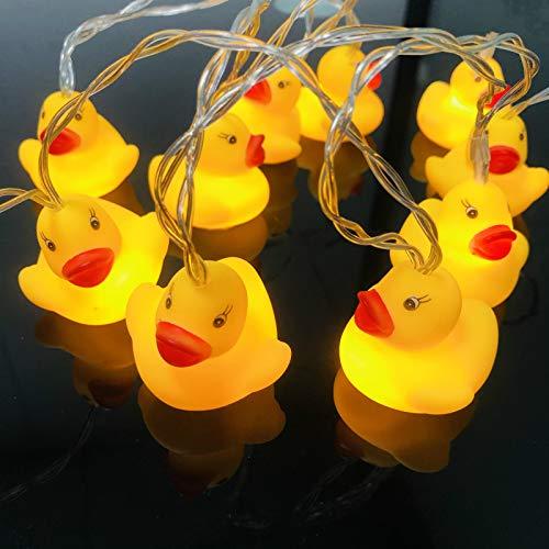 Niedliche Tierform Ente LED Lichterketten Batteriebetriebenes Nachtlicht für Indoor Outdoor Halloween Weihnachten Thanksgiving Home Party Kinder Kinder Schlafzimmer Dekoration (Ente)