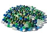 Rhinestone Paradise 180 unidades de 1 kg de canicas de colores azul, verde y transparente, bolas decorativas de cristal de 16 mm