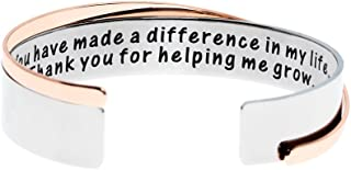 Ms. Clover Teacher Appreciation, You Have Made A Difference In My Life. Thank You for Helping Me Grow Bracelet, Thank You ...
