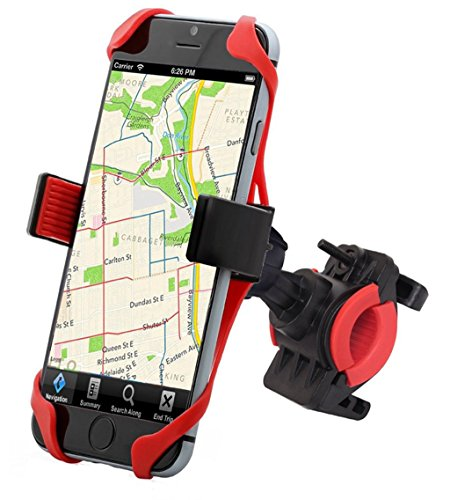 Cheapest Price! Bike Phone Holder Bike Phone Monut with Supergrip Elastic Stabilizer for iPhone 4,5,...