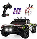 4x4 HIGH-SPEED RC CAR: This 4 wheel drive high-speed RC racing car is equipped with high quality and durable components to bring you fantastic driving experience. The cool design of the car shell that you will be the focus of the people! With LED Hea...
