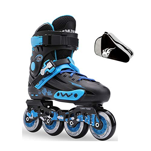 mfwwewe Anti collision Wear resistant Inline Skates Adult Men And Women Professional Roller Skates Comfortable And Breathable Color BLACKBLUE Size 35