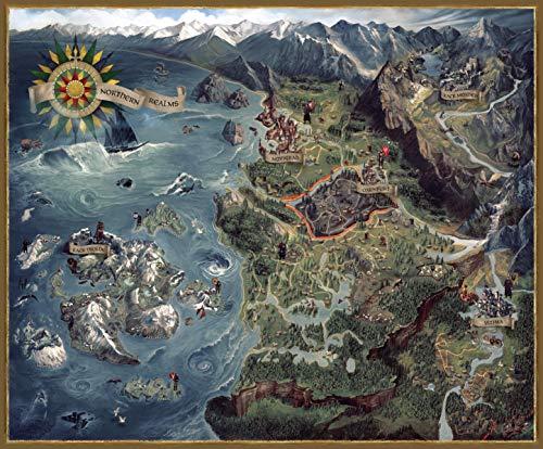 Dark Horse Comics 3003-990 The Witcher 3 Puzzle Karte Nördliche Königreiche, verschieden