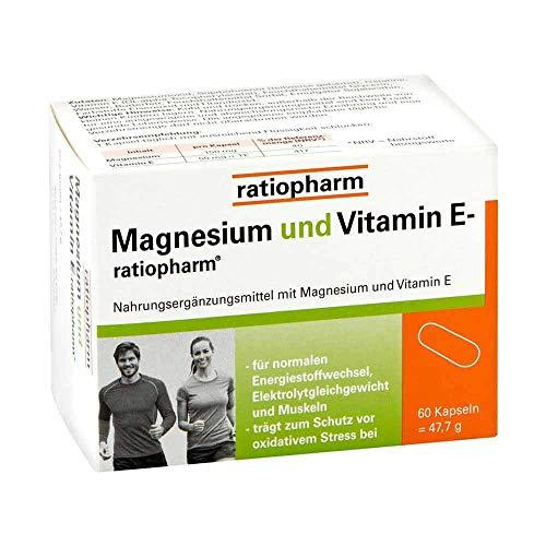 Magnesium und Vitamin E ratiopharm, 60 St