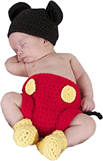 newborn mickey mouse crochet outfit