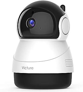 Victure [Nuova Versione] 1080P Telecamera WiFi di Sorveglianza, Videocamera Interna con Rilevamento del Suono e del Mivime...