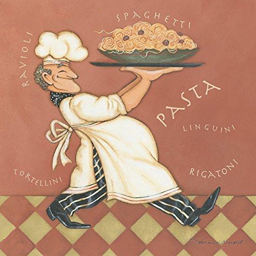 Pasta Chef 12x12 Kitchen Poster Spaghetti Ravioli Art Print