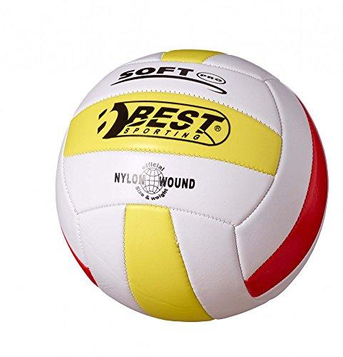 Best Sporting Volleyball Größe 5, Farbe weiß/gelb/rot