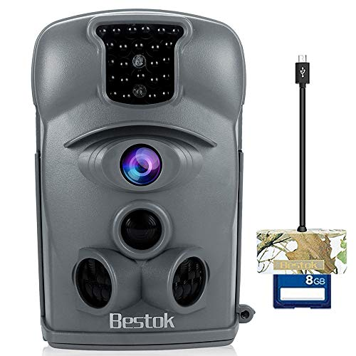 Bestok Trail Camera 12MP 120° HD Game Camera with Night Vision 65ft Waterproof IP54 Wildlife...