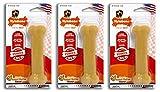 Nylabone Dura Chew Wolf Peanut Butter Flavored Bone Dog Chew Toy (Pack of 3)