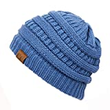 C.C Exclusives Cable Knit Beanie - Thick, Soft & Warm Chunky Beanie Hats (Dk. Denim)
