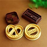 LINLIN 4Pcs Square Round Cookie BiscuitSet Pan Fondant Cake Mold Baking Tool Cuatro Formas Cookie MoldCookie