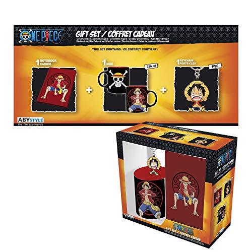 ABYstyle - One Piece - Caja de Regalo Luffy - Taza 320ml + Llavero + Cuaderno
