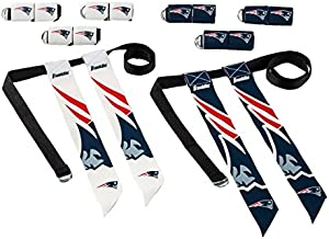 Franklin Sports NFL New England Patriots Flag Football Sets - NFL Team Flag Football Belts and Flags - Flag Football Equipment for Kids and Adults
