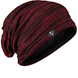 FORBUSITE Mens Slouchy Long Beanie Knit Cap for...