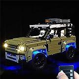 NgMik Coche de Control Remoto eléctrico Kit de iluminación de luz LED sólo for Lego Bricks 42110 Land Rover Defender de Coches Los Juguetes con Control Remoto Regalo Juguetes de Coche para niños
