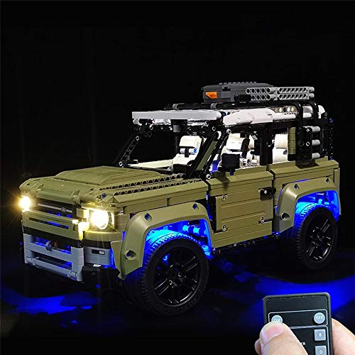 Control Remoto de Coches Lego 42110 Ladrillos Land Rover Defender de Coches Juguetes con Control Remoto LED de iluminación Light Kit Solamente para Todos los Adultos y niños
