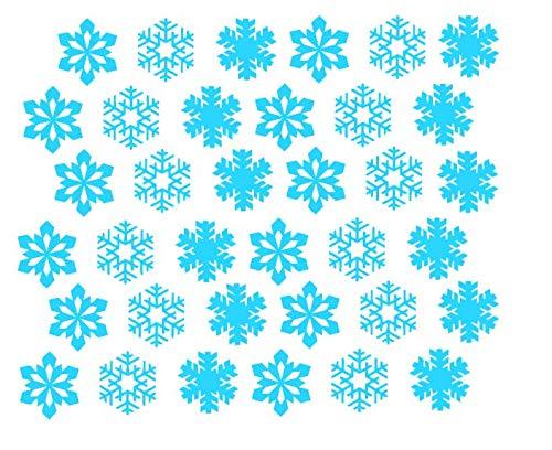 Flocons de neige Décorations de noël De noël Sticker mural Décoration de la chambre Autocollant sur la fenêtre Saint Nicolas