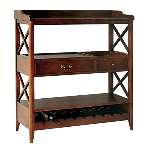 Wayborn Home Furnishing 9113 Eiffel Wine Storage Console, Brown
