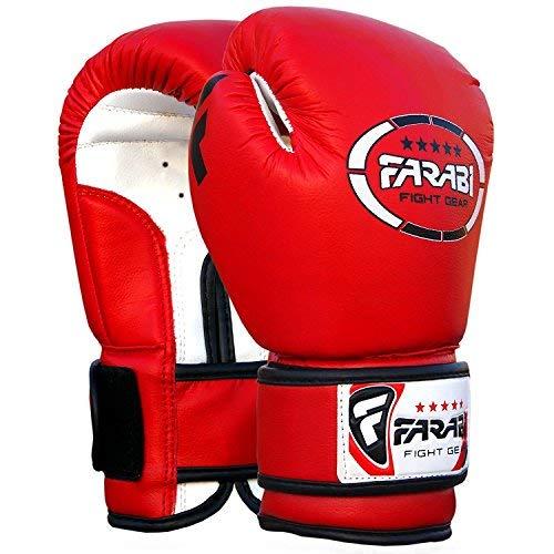 Kids boxeo guantes, mitones junior, guantes Sparring mma 4 oz por Farabi