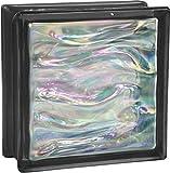 6 pezzo BM vetromatton ACQUA perlado nero vetromattone lucido 19x19x8 cm